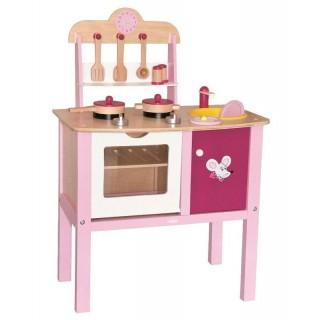 houten keukentje roze woody